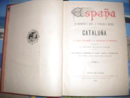 1884 CATALUNA BARCELONA D.PABLO PIFERRER Y D. FRANCISCO PI MARGALL - DOS TOMOS - Storia E Arte