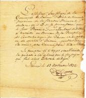 Certificat De Travail Aux Contributions ( Six Ans) De Benoit MERCKAERT , Par L'Assesseur De LAARNE En 1832  --  22/475 - Documents Historiques