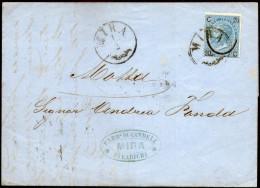 Italy,1867,Letter Sent:Mira 1/2,to Motta 2/2,via Mestre 1/2,via Treviso 2 Feb.1867,see Scan - Storia Postale
