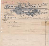RN AG AARAU 1897-VII-30 LB. Frey Uhrmacher - Switzerland