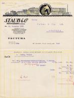 RN ZH MÄNNEDORF 1925-11-26 Staub & Cie Gerberei Treibriemen - Suisse