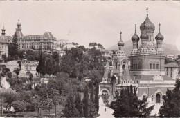 Nice - L'Eglise Russe - Parc Impérial Et Lycée - 1956 - Monumenten, Gebouwen