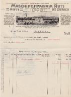 RN ZH RUTI 1920-12-14 Maschinen-Fabrik Rüti - Suisse