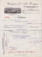RN ZH HORGEN 1915-6-17 Wanner & Co Fabrik Technischer Betriebs-Utensilien - Suisse