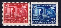 DDR+ 1952 Mi 315-16 Mlh Leipziger Messe - DDR
