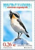 ANDORRA ESPAÑOLA 2003 - FAUNA PAJARO - COLLALBA GRIS - Edifil Nº 307 - Vogels
