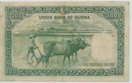BURMA P. 41 100 R 1953 VF - Myanmar