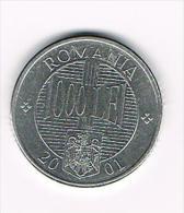 ¨ ROEMENIE  1000  LEI  2001 - Roumanie