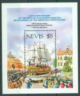 Nevis - 1987 Alexander Hamilton Block MNH__(TH-845) - St.Kitts And Nevis ( 1983-...)