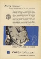 # OMEGA BIEL/BIENNE SUISSE HORLOGERIE 1950s Italy Advert Publicitè Reklame Orologio Montre Uhr Reloj Relojo Watch - Advertisement Watches