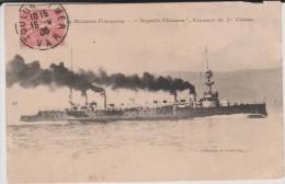 """Bateau  : Le  Militaire   Française  """"  Dupetit -  Thouars """"  Croiseur - Guerra"""