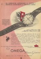 # OMEGA BIEL/BIENNE SUISSE HORLOGERIE 1950s Italy Advert Publicitè Reklame Orologio Montre Uhr Reloj Relojo Watch - Montres Publicitaires