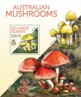 slm13702b Solomon Is. 2013 Mushrooms s/s