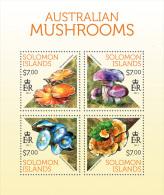 slm13702a Solomon Is. 2013 Mushrooms s/s
