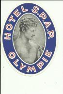 HOTEL LABEL   ---    GREECE  --  HOTEL S. P. A. P. - Hotelaufkleber
