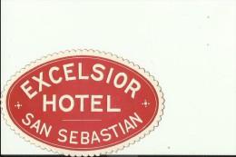 HOTEL LABEL   ---    SAN SEBASTIAN, SPAIN  --   HOTEL EXCELSIOR - Hotelaufkleber
