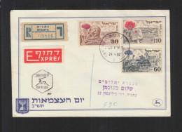 Israel FDC R-PK Ntaya Satz MiF 29.4.1952 Gelaufen - Israel