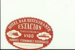 HOTEL LABEL   ---    VIGO, SPAIN  --   HOTEL ESTACION - Hotelaufkleber
