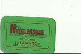 HOTEL LABEL   ---    SALAMANCA,  SPAIN  --   HOTEL PASAJE - Hotelaufkleber