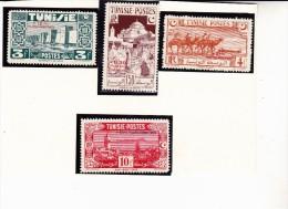 TUNISIE- TIMBRES N°269 A 272 NEUF X ANNEE 1945 - Oblitérés