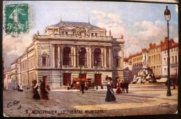 MONTPELLIER (34) Le Theatre Municipal. Voiture Ancienne - Montpellier