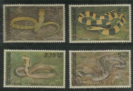 Thailand 1981 Snake, Set MNH - Thailand