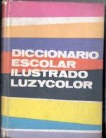 """""""DICCIONARIO ESCOLAR ILUSTRADO LUZYCOLOR"""" CON 36 LÁMINAS A TODO COLOR -AÑO 1965-PAG.545-TAPAS RÍGIDAS-USADO-GECKO. - School"""
