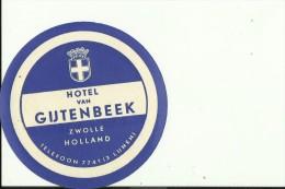 HOTEL LABEL   ---   ZWOLLE, NEDERLAND  --    HOTEL GIJTENBEEK - Hotelaufkleber