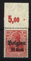 Belgien,14cI,OR P,xx,gep. (3571) - Besetzungen 1914-18