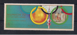 Olympische Spelen  1972 , Ajman - Zegel  Postfris - Sommer 1972: München