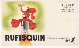 Buvard (format 174x 106mm) - B1327- Huile D'arachide RUFISQUIN ( Non Utilisé) - Blotters