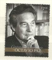 Octavio Paz, écrivain, Prix Nobel De Littérature En 1990. Un T-p Neuf **  2014 - Mexico