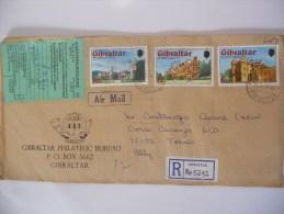 Gibraltar Lettre Recommande De 1978 Pour Torino - Gibraltar