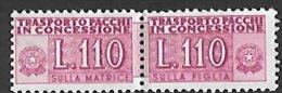 1955-81 Pacchi in concessione  filigrana stelle  ** MNH