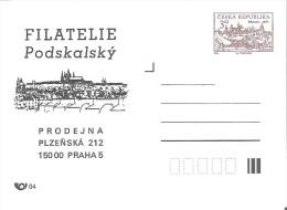 Czech Republic Pws 1994 Filatelie Podskalsky,Praha 5 Entier Ganzsache Postal Stationery Castle - Châteaux