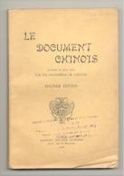 """Livre - Pièce De Théâtre - """" Le Document Chinois """" - Comédie En 2 Actes NAMUR 1934 (jm) - Théâtre"""