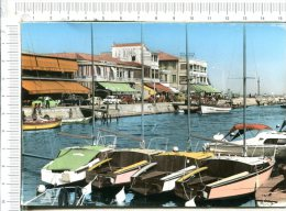 PALAVAS LES FLOTS  -   Le Canal  Et Les  Restaurants - Voiliers  -  Véhicules - Palavas Les Flots