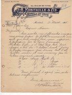 Montreal - A.Robitaille & Cie - Epiciers En Gros - 1901 - Canada