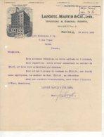 Montreal -  Laporte , Martin & Cie  - Importers & General Agent - 1909 - Canada
