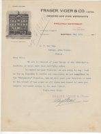 Montreal - Fraser , Viger & Co - Grocers And Wine Merchants - 1911 - Canada