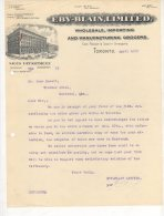 Toronto - Eby-Blain , Limited - Wholesale , Importing And Manufacturing Grocers - 1912 - Canada