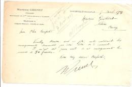 DOUDEVILLE MAURICE GRENET NOTAIRE 5 AVRIL 1927 - Documents Historiques