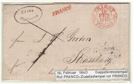 Austria Österreich Triest Trieste 1840 Entire Letter Faltbrief FRANCO To Strassburg (j39) - Österreich