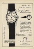 # SOLVIL ET TITUS GENEVE SUISSE HORLOGERIE 1950 Italy Advert Publicitè Reklame Orologio Montre Uhr Reloj Relojo Watch - Montres Publicitaires