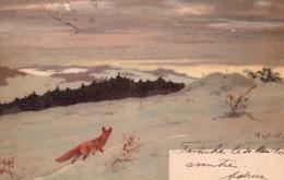 A Identifier-peinture D'un Renard Dans La Neige - Zu Identifizieren