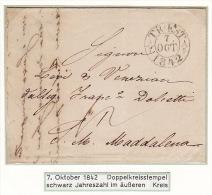 Austria Österreich Triest Trieste 1842 Entire Letter Faltbrief To St. Magdalena (j48) - Austria