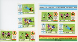 Ghana-Coupe Du Monde De Football En Argentine-YT 618/21+B74***MNH-NON Dentelé - World Cup