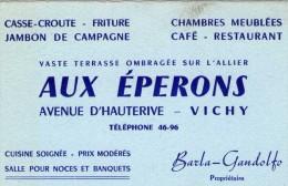ALLIER  **  VICHY  **  CAFE RESTAURANT AUX EPERONS - Cartes De Visite