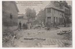 ELBEUF - Ravages Causés Par L´orage Du 30 Juin 1908 - Carrefour De La Rue De Bourgtheroulde Et De La Cavée Des Ecameaux - Elbeuf