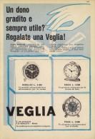 # VEGLIA BORLETTI SVEGLIE OROLOGI HORLOGERIE 1950 Italy Advert Publicitè Reklame Orologio Montre Uhr Reloj Relojo Watch - Orologi Pubblicitari
